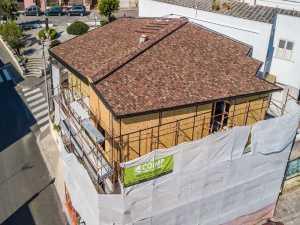 Casa in legno in sopraelevazioneCostruzione casa in legno su muratura portante tradizionale