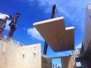 Casa prefabbricata con tipologia costruttiva 'XLAM'