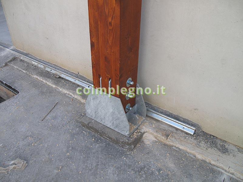 Copertura in legno tra due capannoni alezio lecce 2