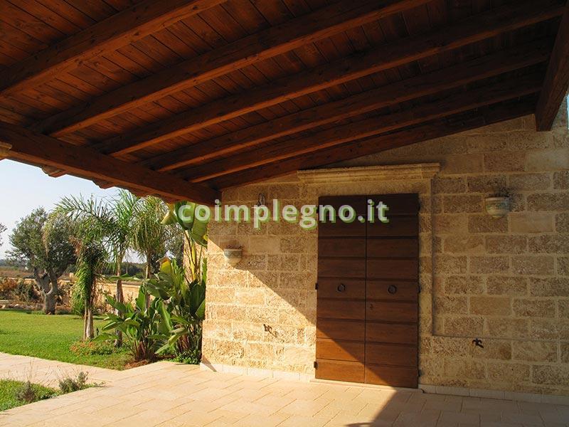 tettoia legno con coppi santa cesarea terme poggiardo