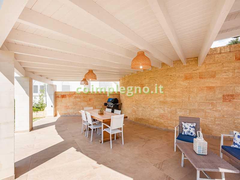 portico curvo in legno ugento lecce 2