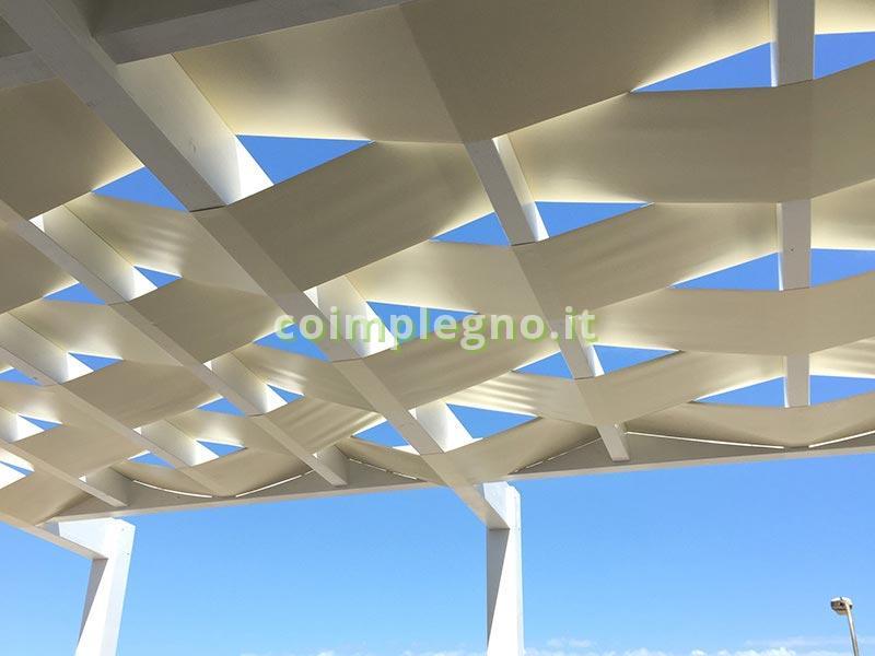 pergolato in legno e gazebo in legno per case al mare Coimp  Lecce Racale Puglia Salento