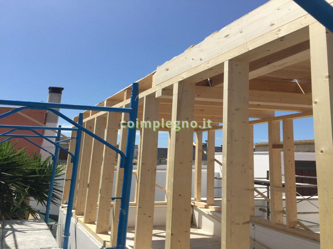 ampliamento casa in legno in Lecce Salento Puglia