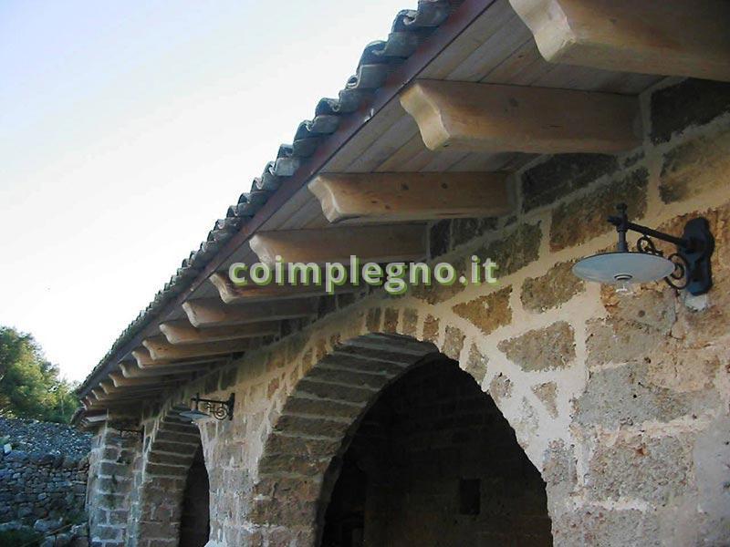 Masseria con tetti in legno palmariggi lecce 1